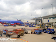 HOBBY AIRPORT HOUSTON TEXAS Aerial View Runways, (hobby airport houston texas southwest airlines tarmac luggage equipment cpassenger ramps )