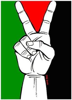 Charge de Latuff: vitória da Palestina