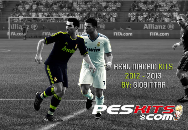 PES 2012 Real Madrid 2012/13 Kits by giobittar
