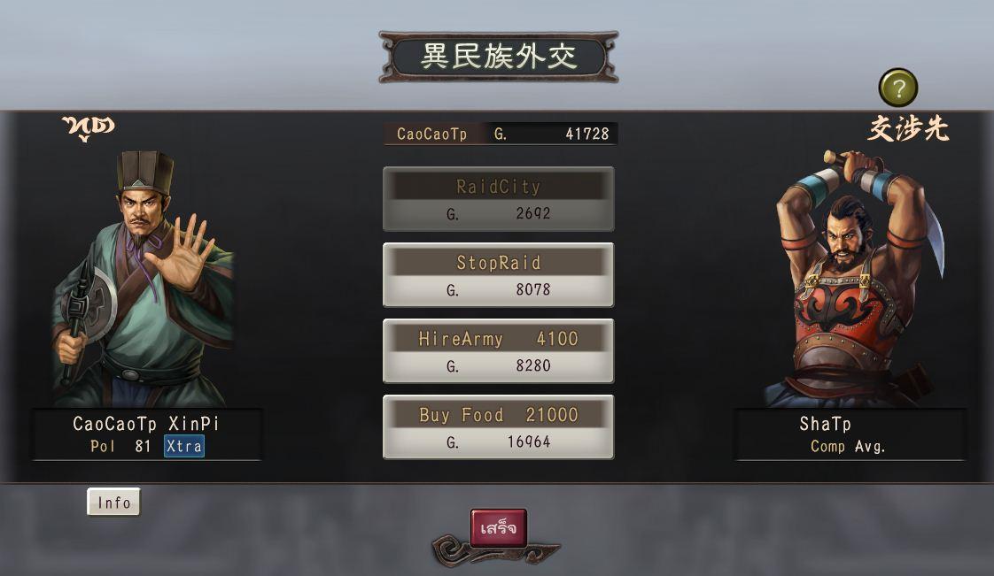 การเจรจากับชนเผ่าต่าง ๆ ในเกมสามก๊ก12