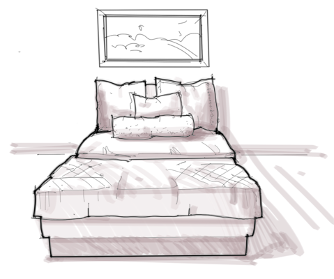 Bed Drawing For Kids Roole