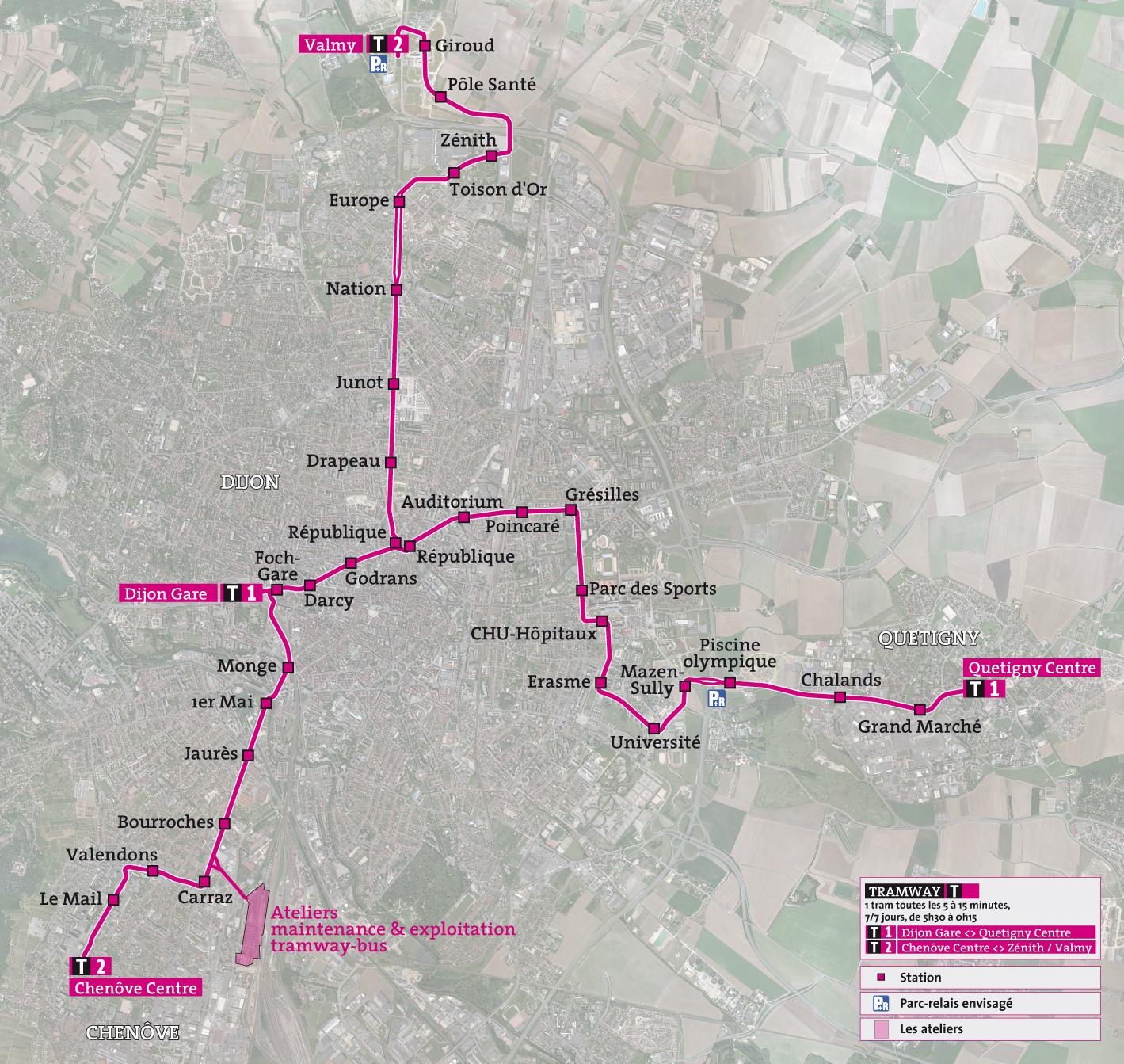 Future Trams of Dijon Oil Free Transportation More