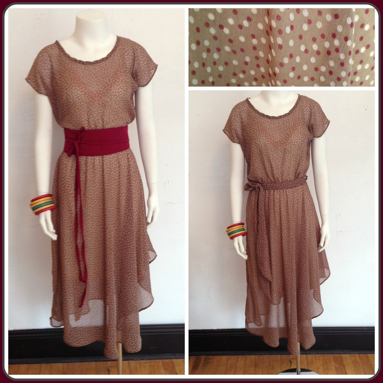 New Nora dress by Sarah Bibb ($190), Obi belt by Sarah Bibb ($40), and Ava slip by Sarah Bibb ($65-$74) at Folly