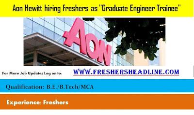 Aon Hewitt hiring Freshers