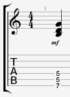 Gmajor triad