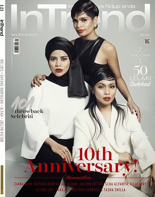 InTrend 10th Anniversary Mei 2015 Alyah cover