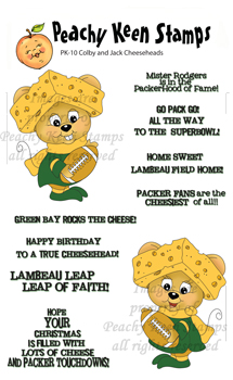 Colby and Jack Cheeseheads - Green Bay Packer Stamps