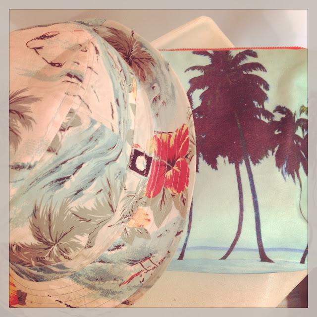 bezso,samudra,pochette,palmiers,chapeau,sunrise,hossegor