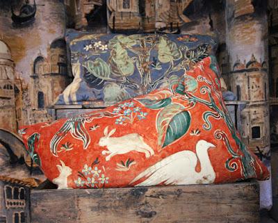 Zoffany Arden velvet cushions