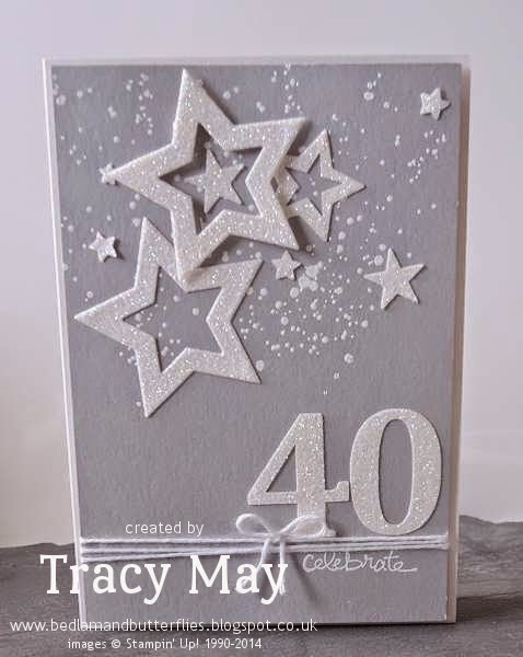 stampin up uk independent demonstrator Tracy May dazzling diamond stars card making ideas
