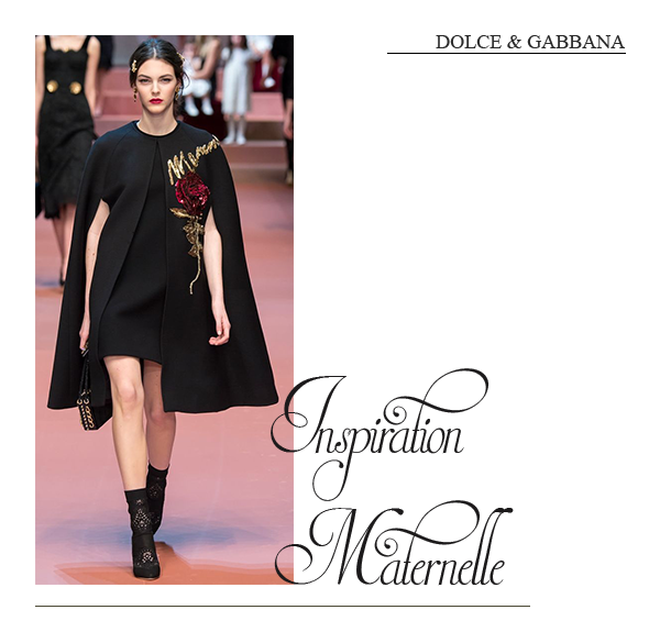 clemence m fashion week dolce & gabbana