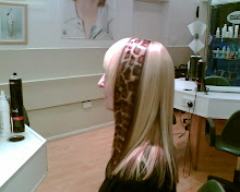 Ingrid Sylvestre completed giraffe design in hair!