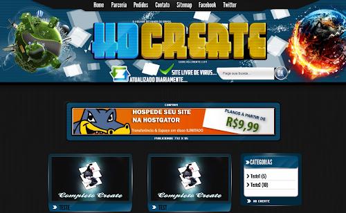 Template HD Create 3 - Modelo 2012