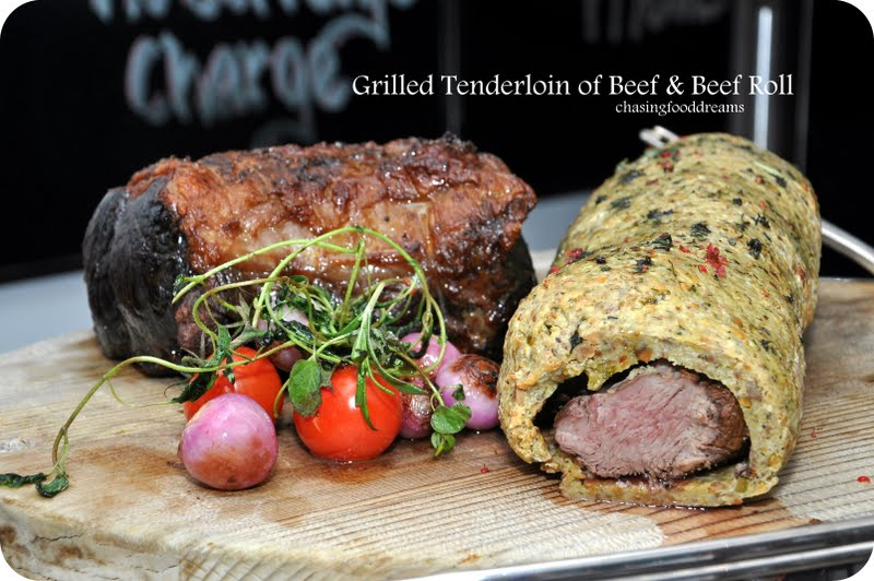Grilled Tenderloin of Beef with Horseradish Cream & Beef Roll