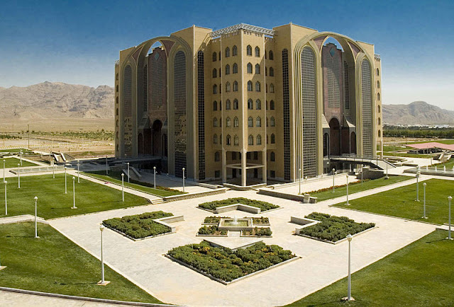 library, in iran, iran, Islamic Azad University of Najafabad, new building, new design, islam, architecture