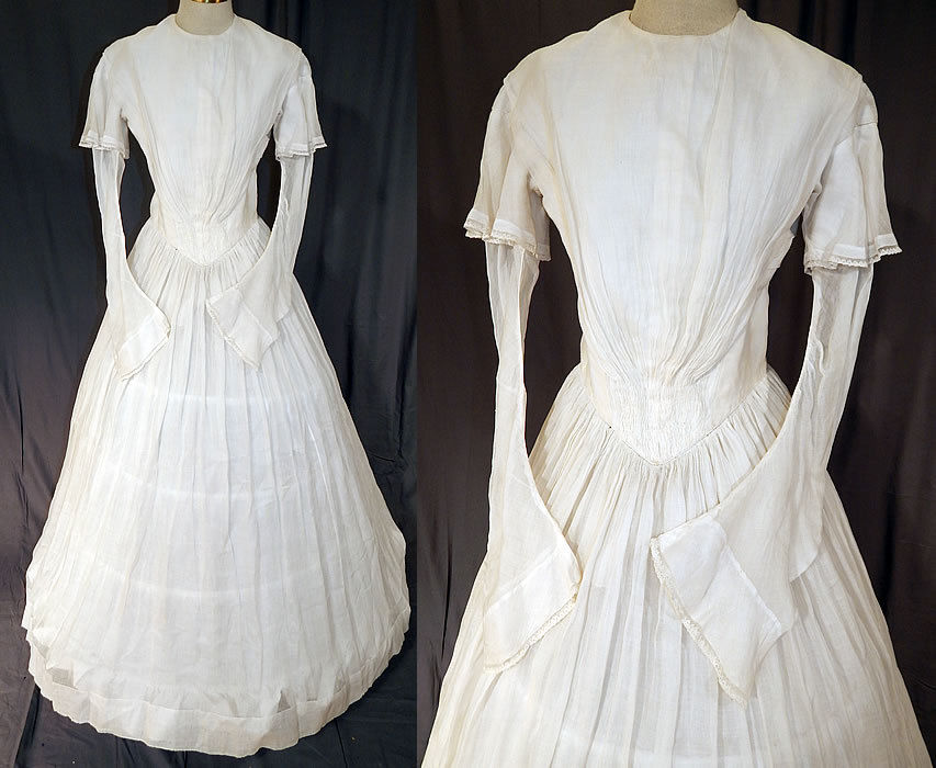All The Pretty Dresses 1840s White Summer Dress