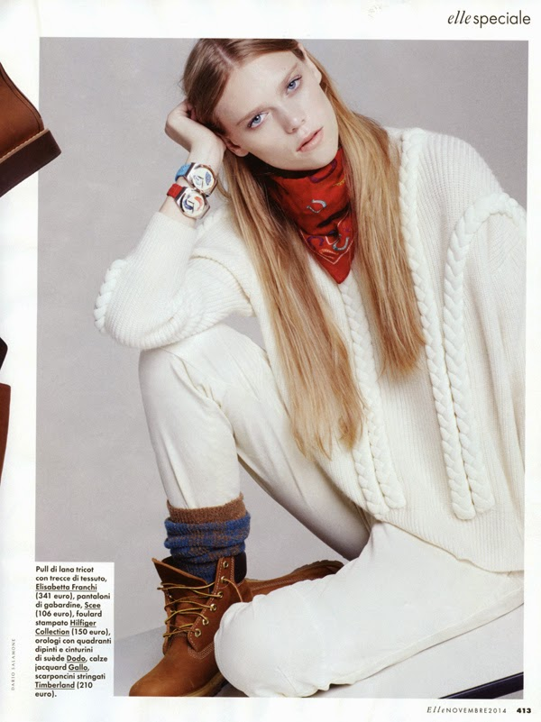 Caitlin Holleran - Cast Images - Elle Italia Nov 2014
