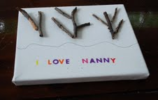 sticks for nature craft for preschoolers, letter practice
