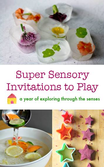 Super Sensory Invitations to Play, a year of exploring through the senses.