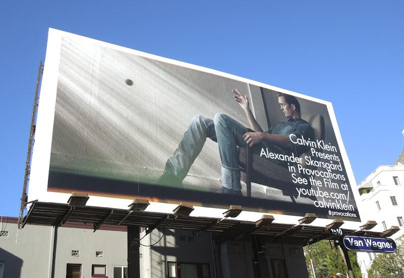 Calvin Klein Alexander Skarsgård Provocations billboard