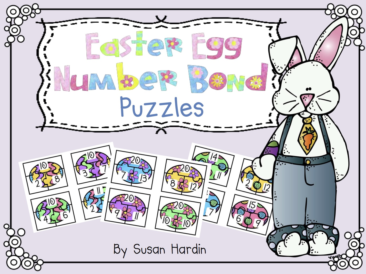 Easter Egg Number Bond Puzzles