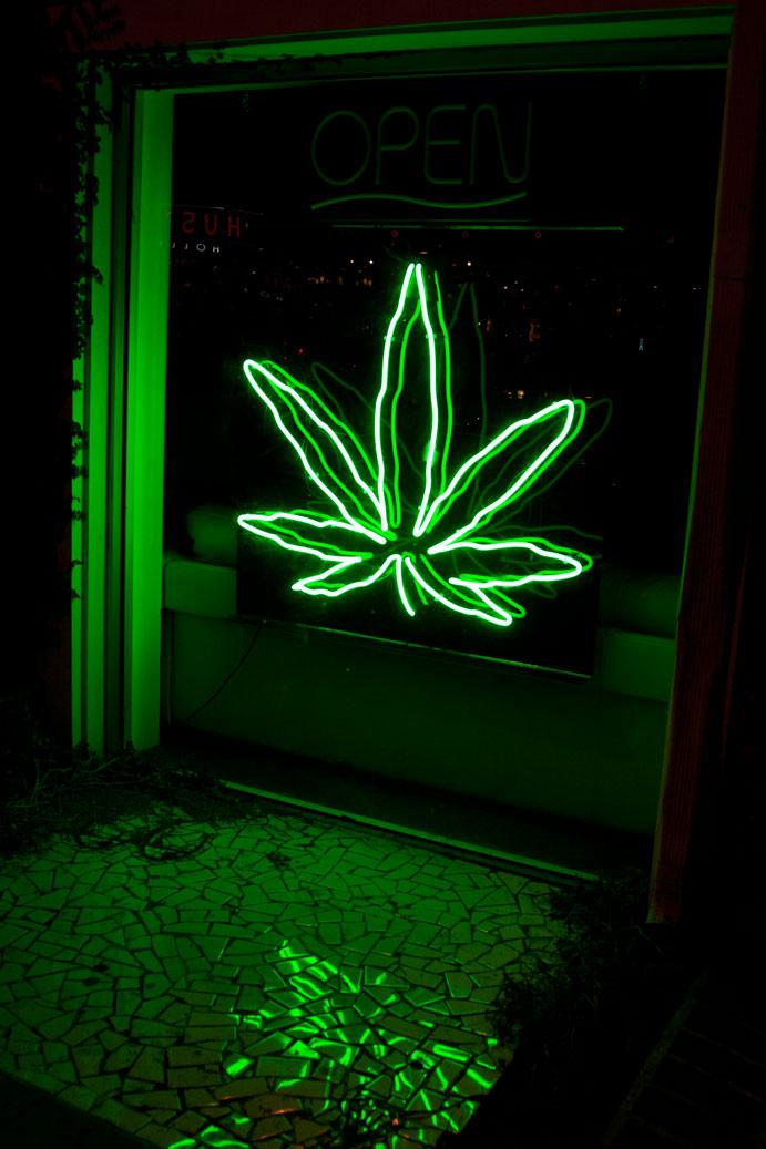 Sign Blog Pot Leaf In Neon Is Marijuana Signage Increasing