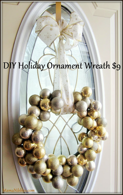 Mama Nibbles DIY Holiday Ornament Wreath