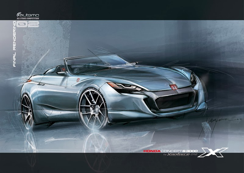 formerly The Honda Portal: Beautiful Honda S3000 Concept Sketch by