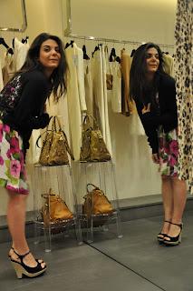 D&G flower Dress,Pura Lopez Platforms,Portafoglio Mk,abito a fiori,primavera