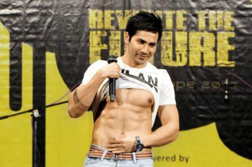 Varun Dhawan shirtless