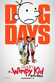 Movie poster showing the cast of Diary of a Wimpy Kid Dog Days