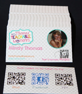 Mrs. Thomas' Teachable Moments cards