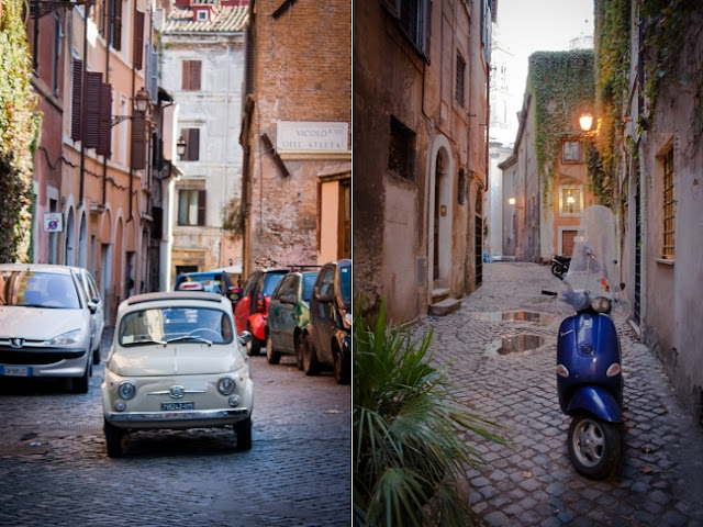Italian car and scooter