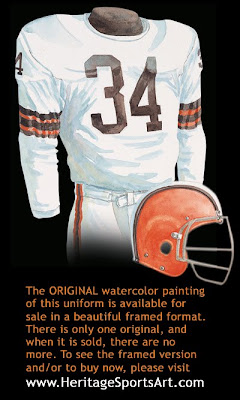 Cleveland Browns 1964 road uniform