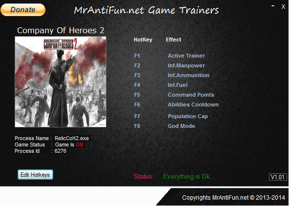 Company Of Heroes 2 V3.0.0.14690 Trainer +7 MrAntiFun