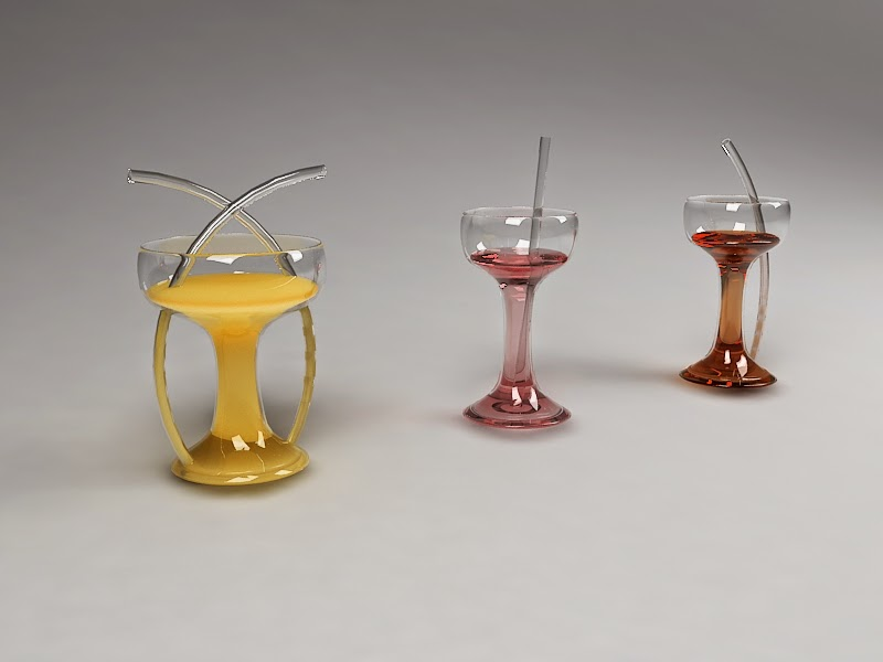 glass design perspective 3d