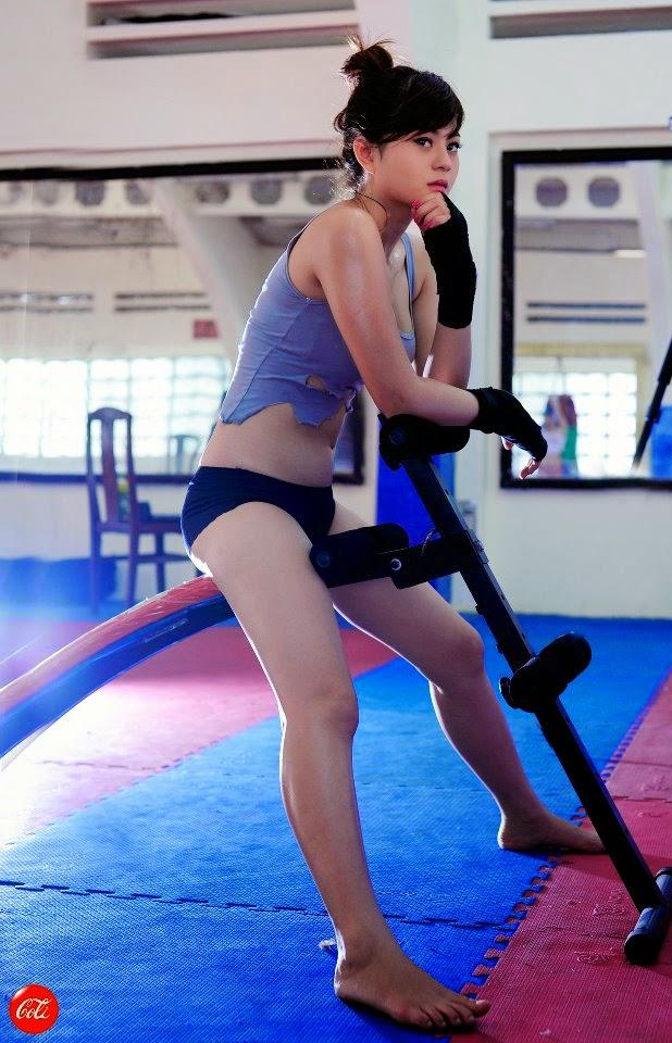 Hotgirl Châu Dương sexy với trang phục boxing 10