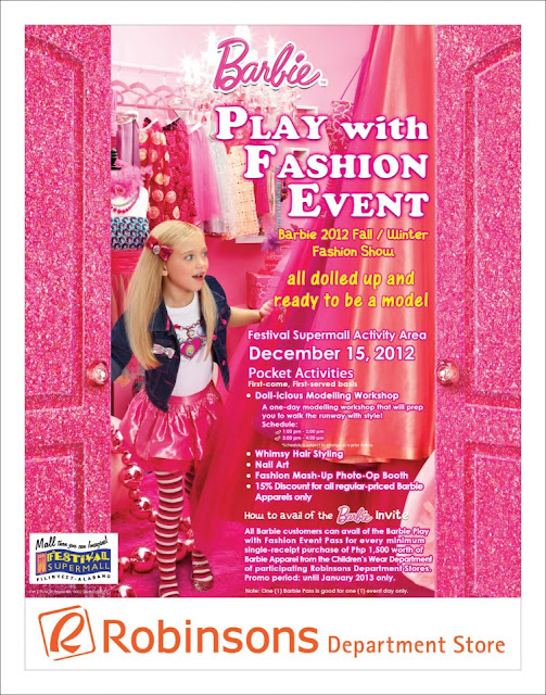 Barbie Play with Fashion Event at Robinsons Department Store