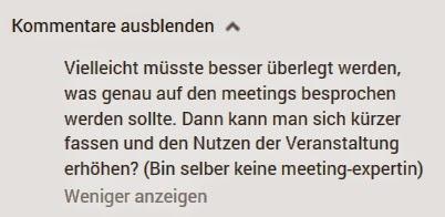 Meetings - Ein süsser Kommentar