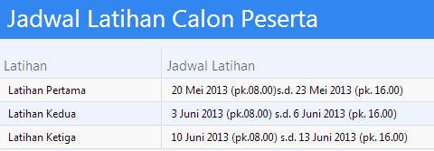 Jadwal Latihan Calon Peserta PPDB Surabaya 2013