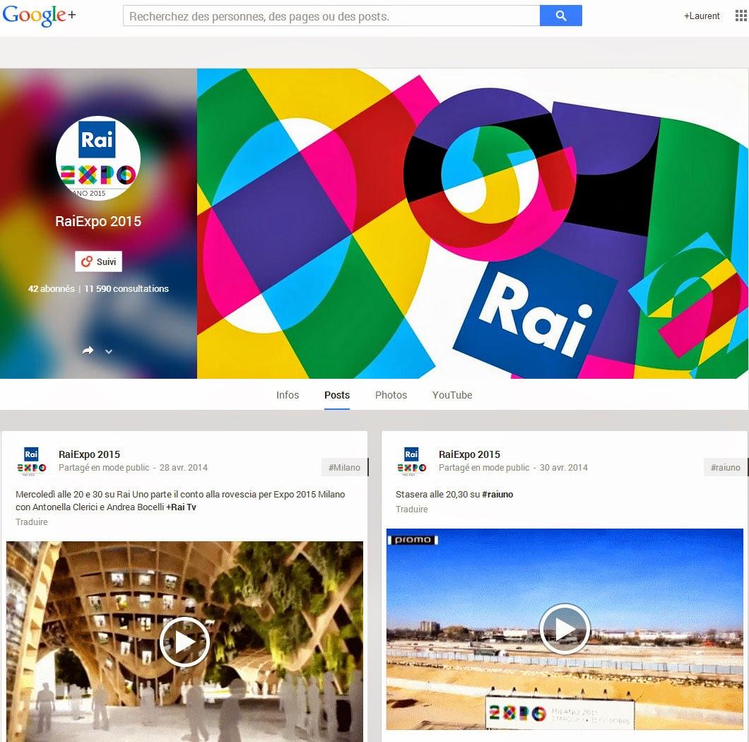 Rai Expo Google+