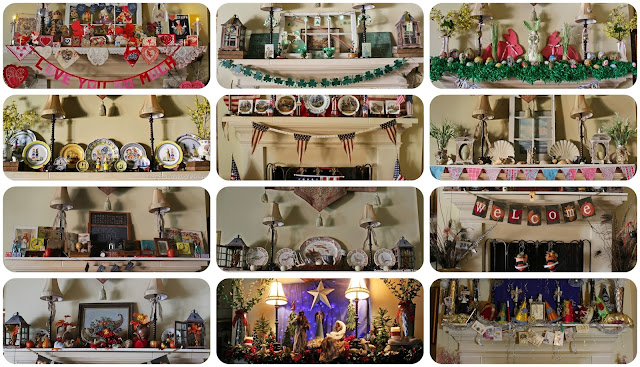 A Year of Mantel Decor-Bargain Decorating with Laurie