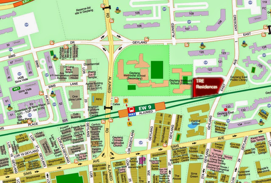 Tre Residences Aljunied location map
