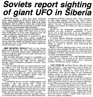 Soviets Report Sighting of Giant UFO in Siberia - Stars and Stripes, The 10-24-1989