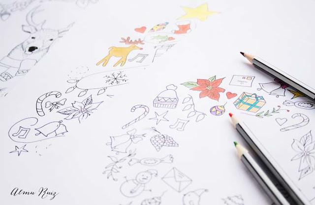 Dibujos navideños para descargar y colorear