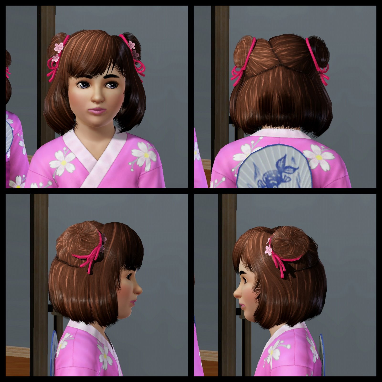 The Sims 3 Store Hair Showroom Japanese Inspired Clothing