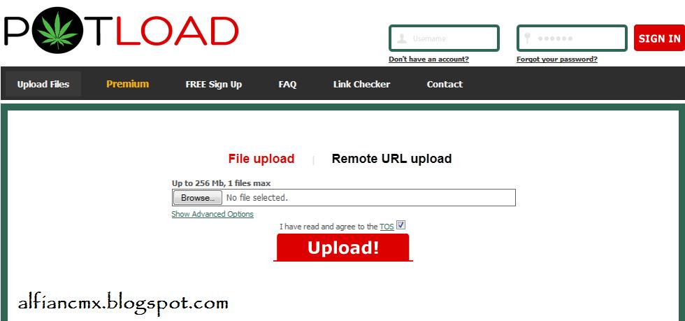 Cara Download di Potload