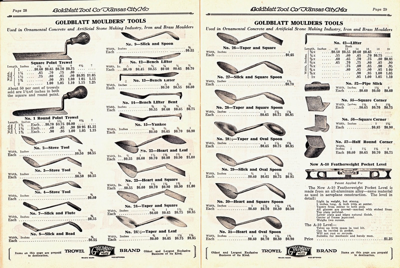 Masonry Trowel Types : Trowel and masonry tool collector resource history of
