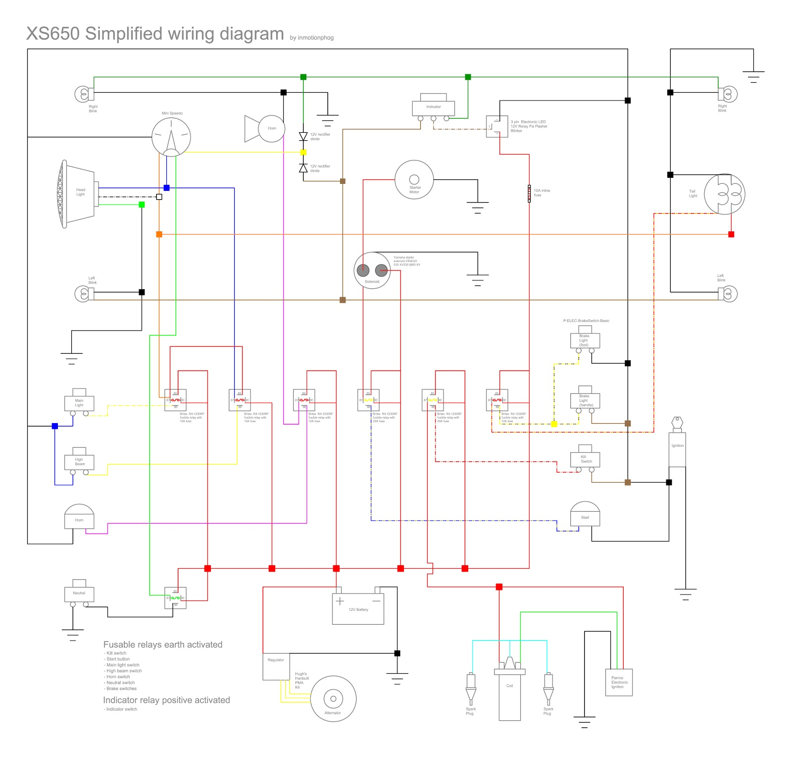 WRG-2562] Xs650 Simplified Wiring Harness on