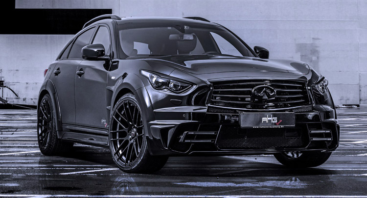 ahg sports 39 menacing infiniti qx70 lr3 wide body. Black Bedroom Furniture Sets. Home Design Ideas